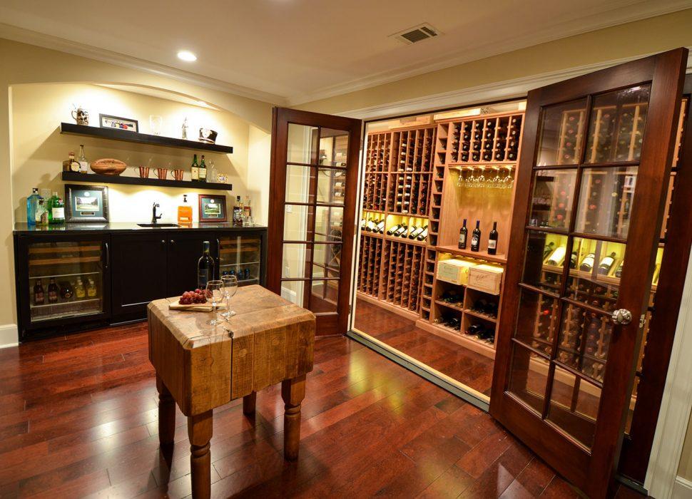 updated wine room