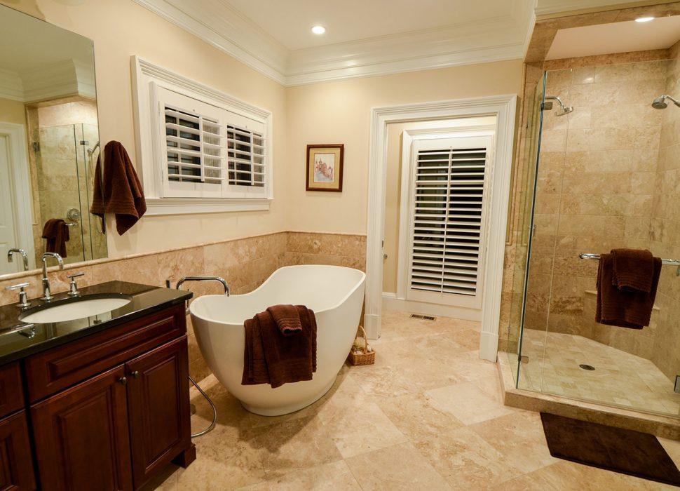 updated master bath