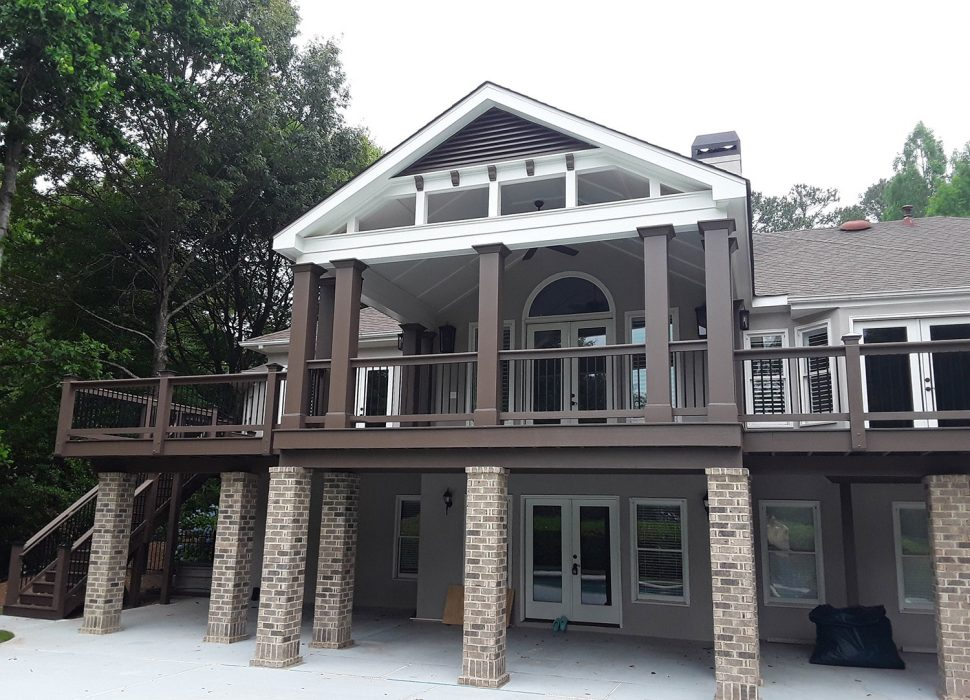updated rear of house